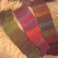 hand knitted wool yoga dance stirrup socks made to order in a variety of colours