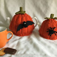 Halloween tea cosy, 2 sizes KNITTING PATTERN. Charity
