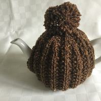 2 cup teapot cosy, hand knitted