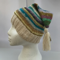 Pixie style hat, teenage or adult size. . FREE POST TO UK