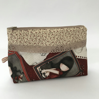 Zipped make up bag, pencil case or project bag.