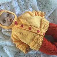 "Baby Annabel doll clothes set. Fit 17-19"" doll. Hand knitted"