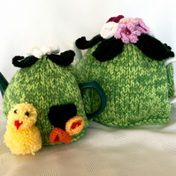 Easter tea cosy. 2 sizes. KNITTING PATTERN PDF. Charity