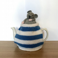 Cornish Mouse  tea cosy. 6 cup pot Charity