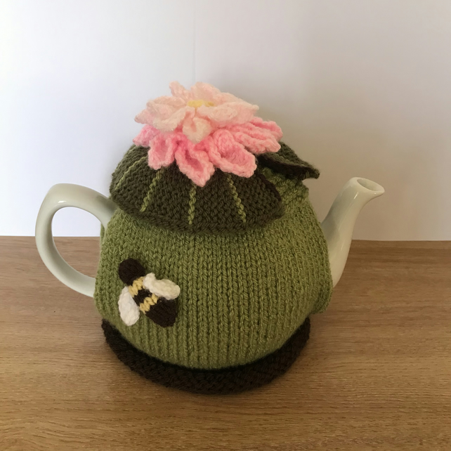 Water lily tea cosy to suit standard 6 cup teapot. Charity