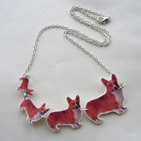 Corgi necklace celebrate the queen