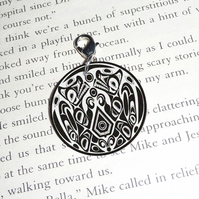 Handmade Twilight Jacob tattoo charm for bracelet