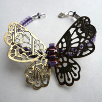 Beautiful butterfly macrame bracelet