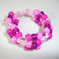 Handmade jewellery - Girls Pony Bead Macrame Bracelet