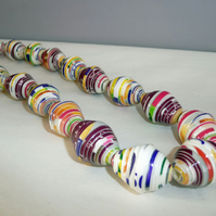 Handmade jewellery - Upcycled paper bead necklace