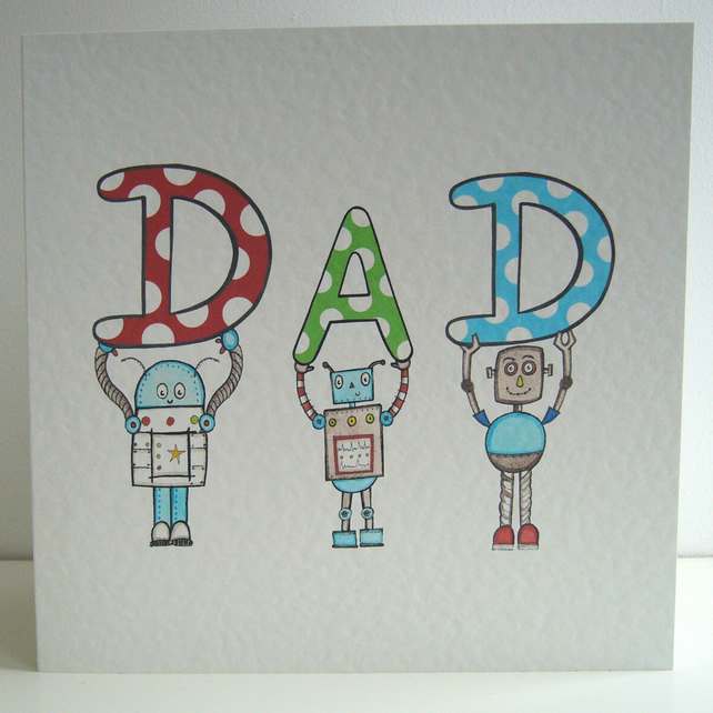 Dad Robot card ( Not personalised  )
