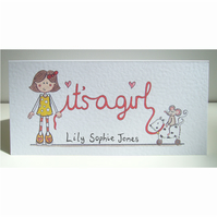 It's a Girl Card ( Personalised )