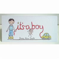 It's a Boy Card ( Personalised )