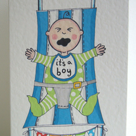 New Arrival Baby Boy Card ( Personalised )