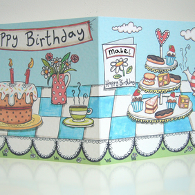 Personalised Birthday Tea Card