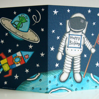 Personalised Spaceman Astronaut Birthday card