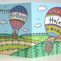 Personalised Birthday Hot Air Balloon Card