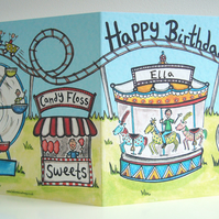 Personalised Funfair Birthday Card