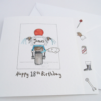 Personalised Motorbike Birthday or any other occasion Greetings Card
