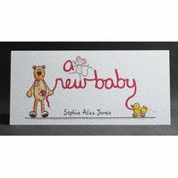 A New Baby Card ( Personalised )