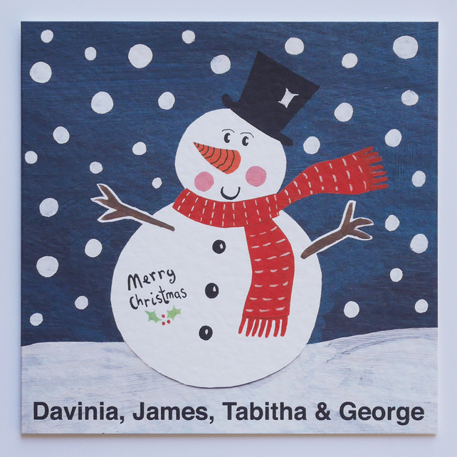 Personalised Snowman Card