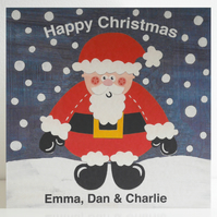 Personalised Father Christmas Card