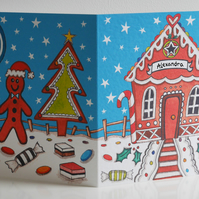 Personalised Gingerbread House Christmas Card.