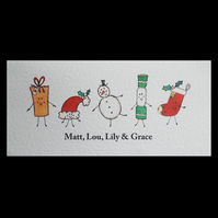 Personalised Christmas Card.