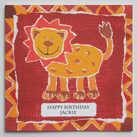 Lion Birthday Card ( Personalised )