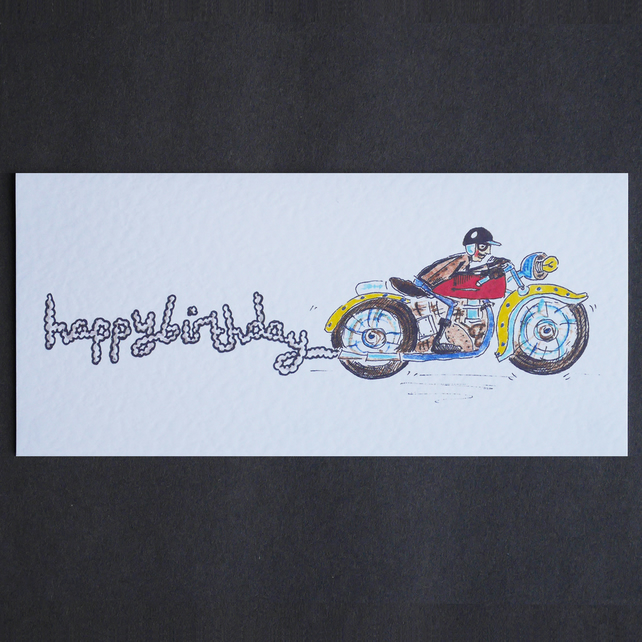 Motorbike Birthday, Retirement or Father's Day Card. ( Unpersonalised )