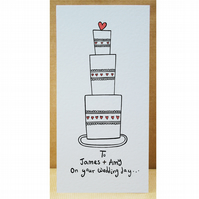 Wedding Cake Wedding Card ( Personalised )