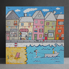 Seaside Scene Card.