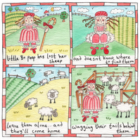 Little Bo Peep Children's Nursery Rhyme Picture.