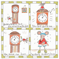 Hickory Dickory Dock Children's Nursery Rhyme Picture.