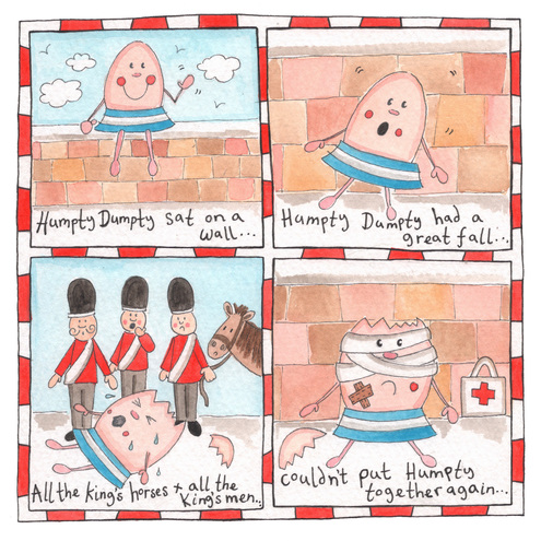 Humpty Dumpty Children's Nursery Rhyme Picture.
