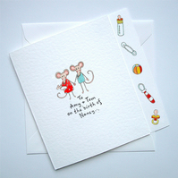 New Baby Card ( Personalised )