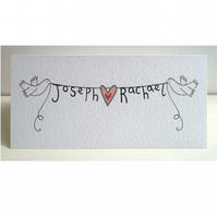 Personalised Wedding, Engagement or Anniversary Card