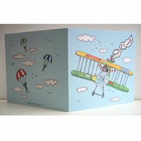 Personalised Dad Plane Father's Day or any other occasion Greetings Card
