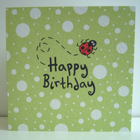 Ladybird Birthday Card