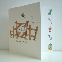 Garden Birthday, Retirement or any Occasion Card ( Personalised )