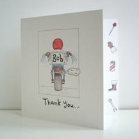 Personalised Dad Motorbike Father's Day or any other occasion Greetings Card