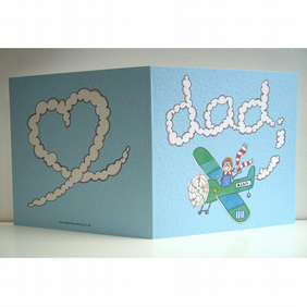 Personalised Dad Plane Birthday any occasion card.