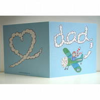 Personalised Dad Plane Birthday or any other occasion Greetings Card
