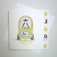 Personalised Horse and Horse Box Birthday Card