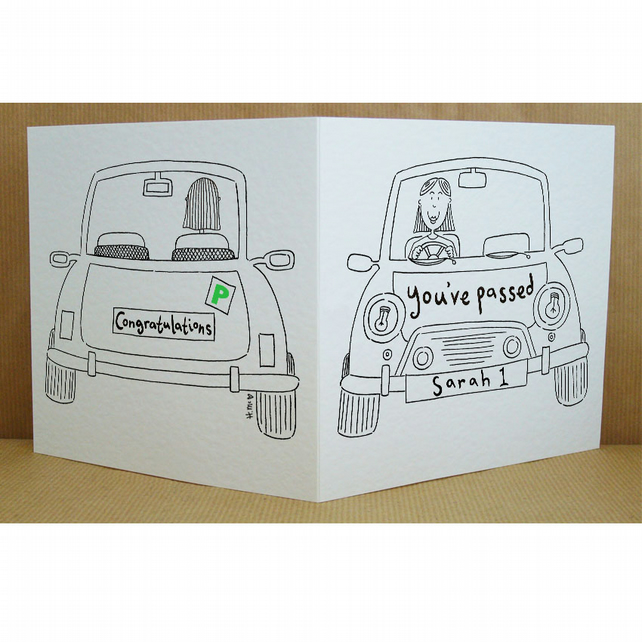 Female Passed Your Driving Test Card ( Personalised )