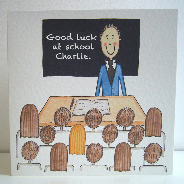 Back to School card ( Personalised )