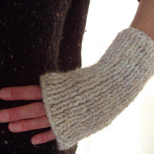 PATTERN for DARA Chunky Fingerless Gloves for Men and Women