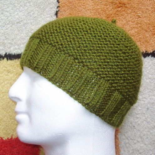Knitting Pattern Beanie Hat Double Knitting : MEN S BEANIE CAP KNITTING PATTERNS 2000 Free Patterns