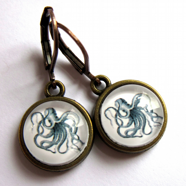 Octopus Vintage Style Earrings Fashion Jewellery