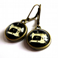 Sewing Machine Earrings Retro Vintage Style Fashion Jewellery